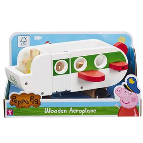 Peppa Pig Wooden Plane and Figures
