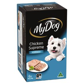My Dog Wet Dog Food Chicken Supreme Meaty Loaf 6 x 100g Trays