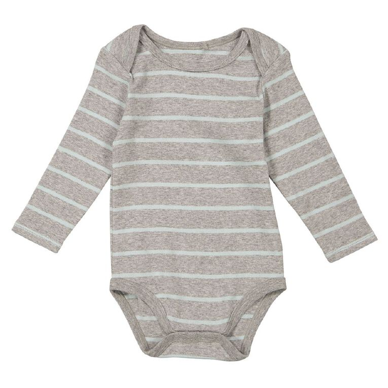 Young Original Baby Long Sleeve Bodysuit, Grey Mid GRY/BLU, hi-res image number null