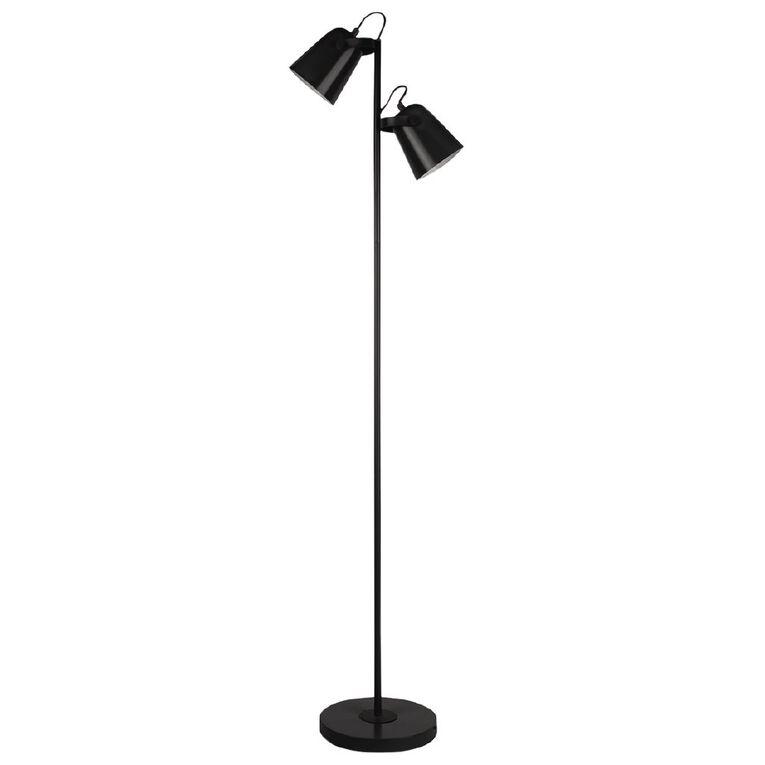 Living & Co Twin Floor Lamp Black, , hi-res