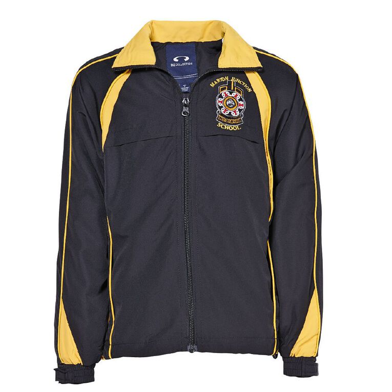 Schooltex Marton Junction School Jacket with Embroidery, Black/Gold, hi-res