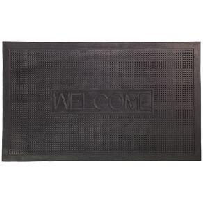 Living & Co Welcome Rubber Door Mat Black 45cm x 75cm