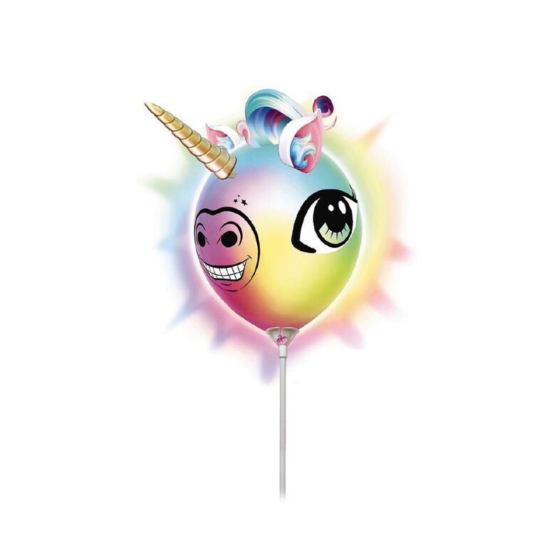 Illooms Make Your Own Unicorn Head Light Up Balloon, , hi-res