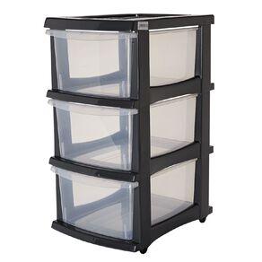 Taurus Storage Drawers Grey 3 Tier