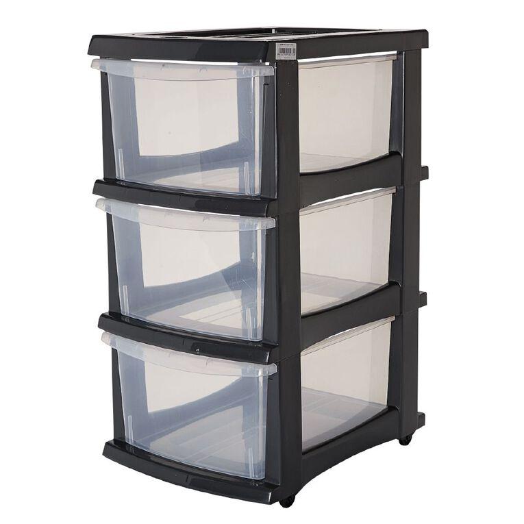 Taurus Storage Drawers Grey 3 Tier, , hi-res