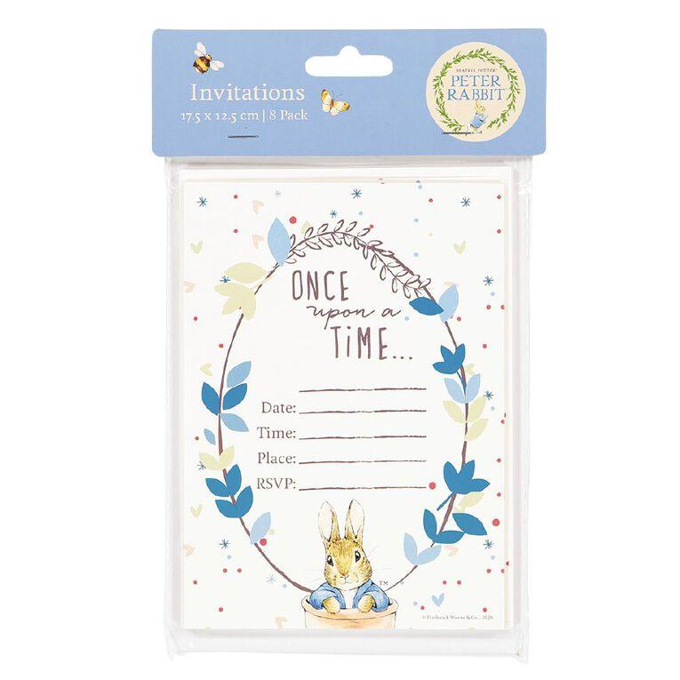 Peter Rabbit Beatrix Potter Invitations 17.5cm 8 Pack, , hi-res