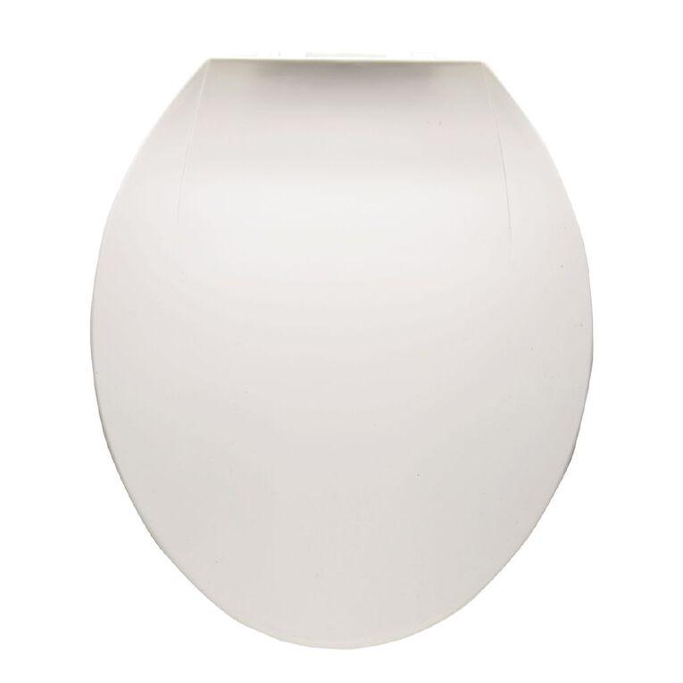Living & Co Toilet Seat Plastic White One Size, White, hi-res
