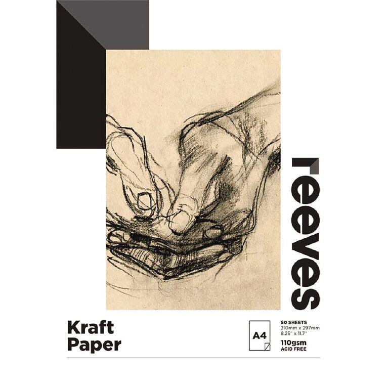 Reeves Kraft Pad 110gsm A4, , hi-res