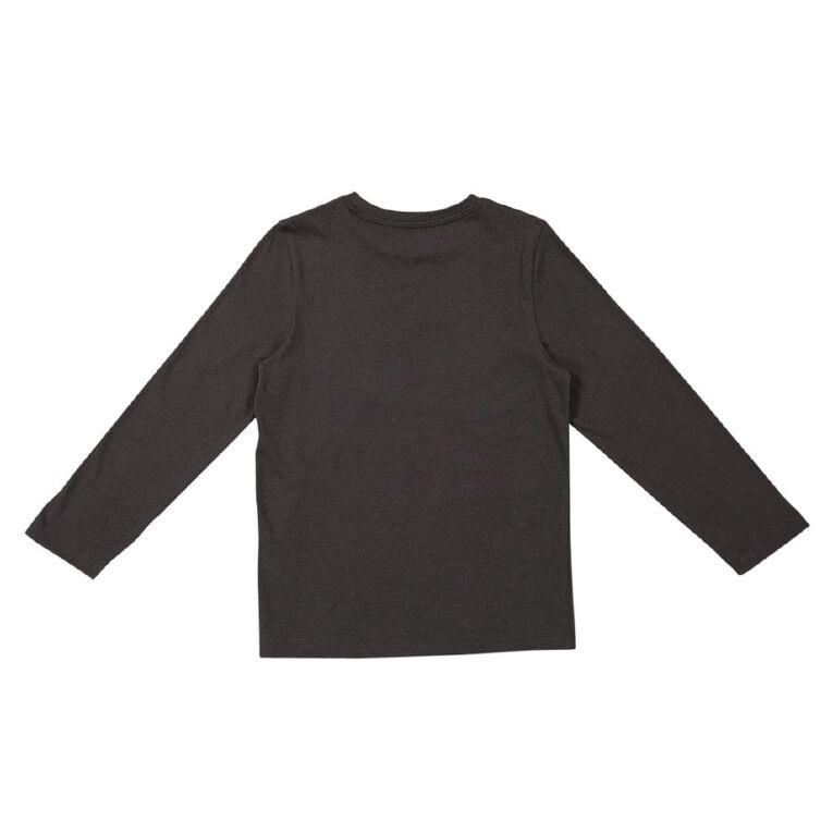 Young Original Long Sleeve Print Tee, Grey Dark, hi-res