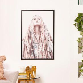 Living & Co Boho Chic Framned Print Black 60 x 90 x 2.3cm
