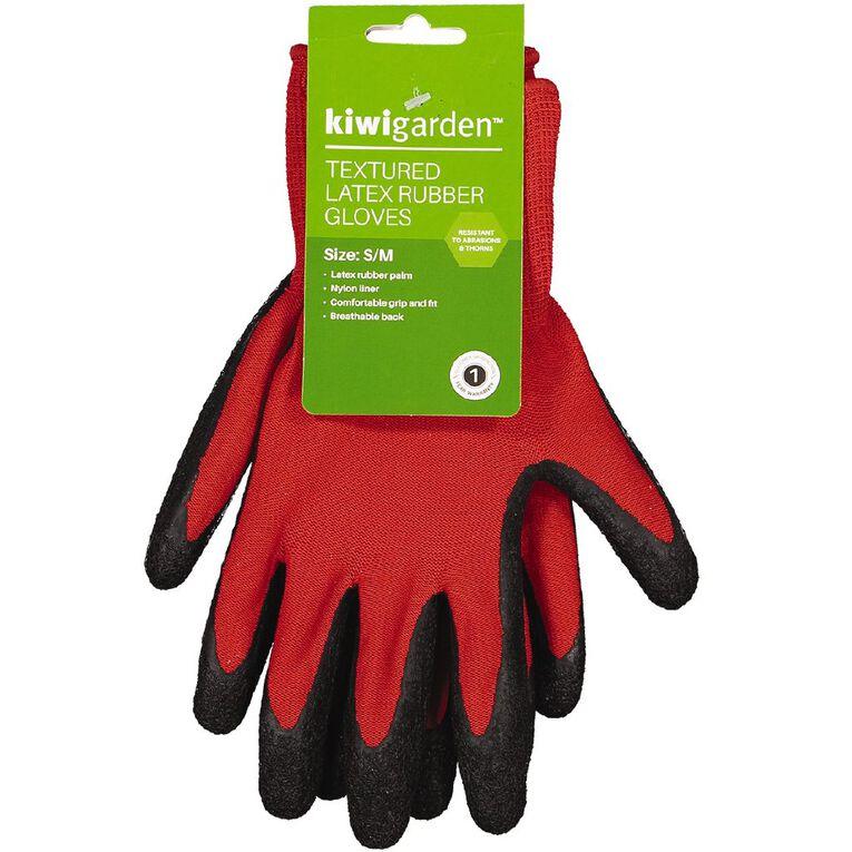 Kiwi Garden Textured Latex Rubber Gloves S-M, , hi-res