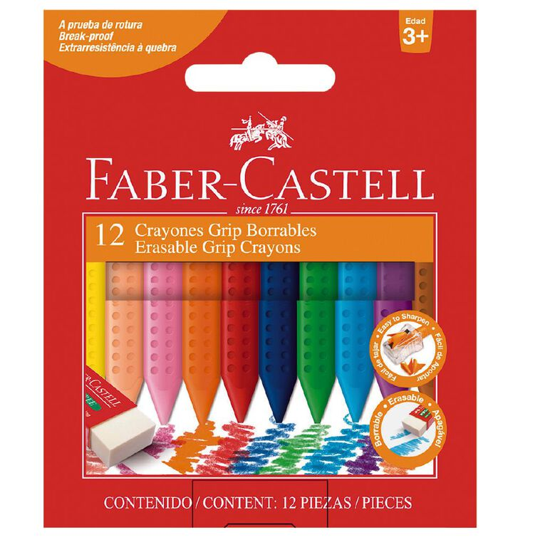 Faber-Castell Jumbo Grip Crayons Box of 12, , hi-res
