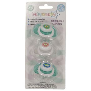 Baby Wonder Silicone Soother Cherry Baglet 0-6m 3 Pack