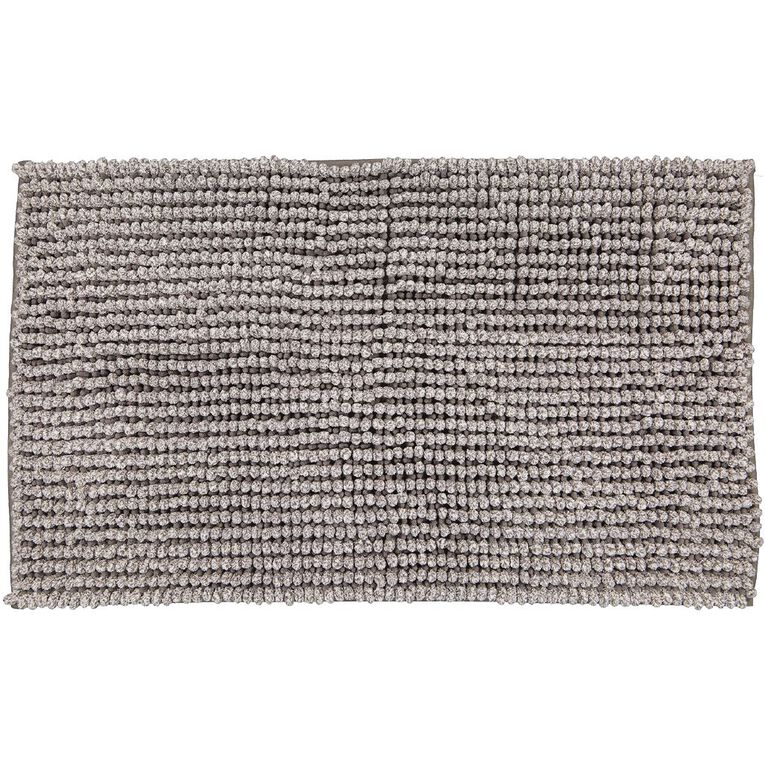 Living & Co Bath Mat Melange Popcorn Grey 45cm x 75cm, Grey, hi-res