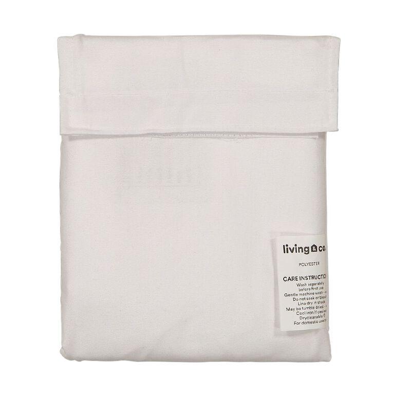 Living & Co Pillowcase Tri Microfibre White 76cm, White, hi-res