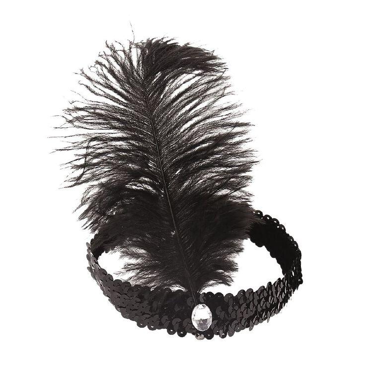 Play Studio Feather Headband Black, , hi-res