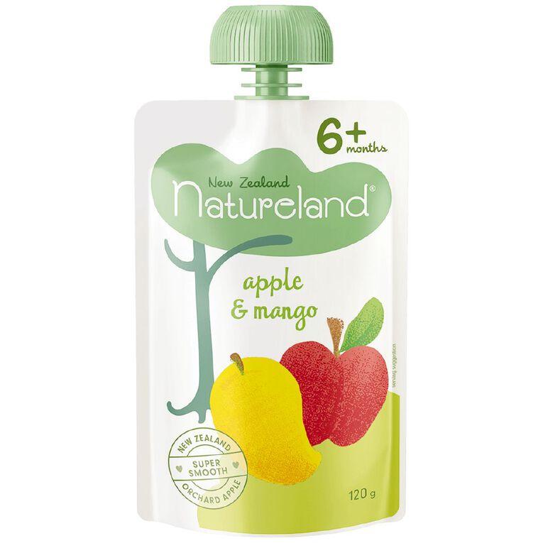 Natureland Apple & Mango Puree Pouch 120g, , hi-res