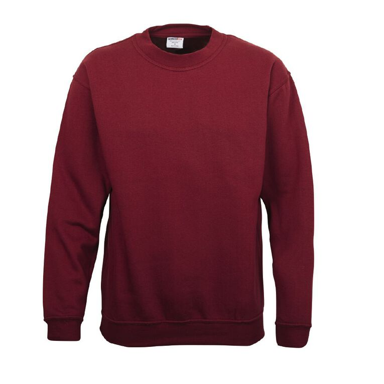 Schooltex Adults' Fleece Sweatshirt, Burgundy, hi-res