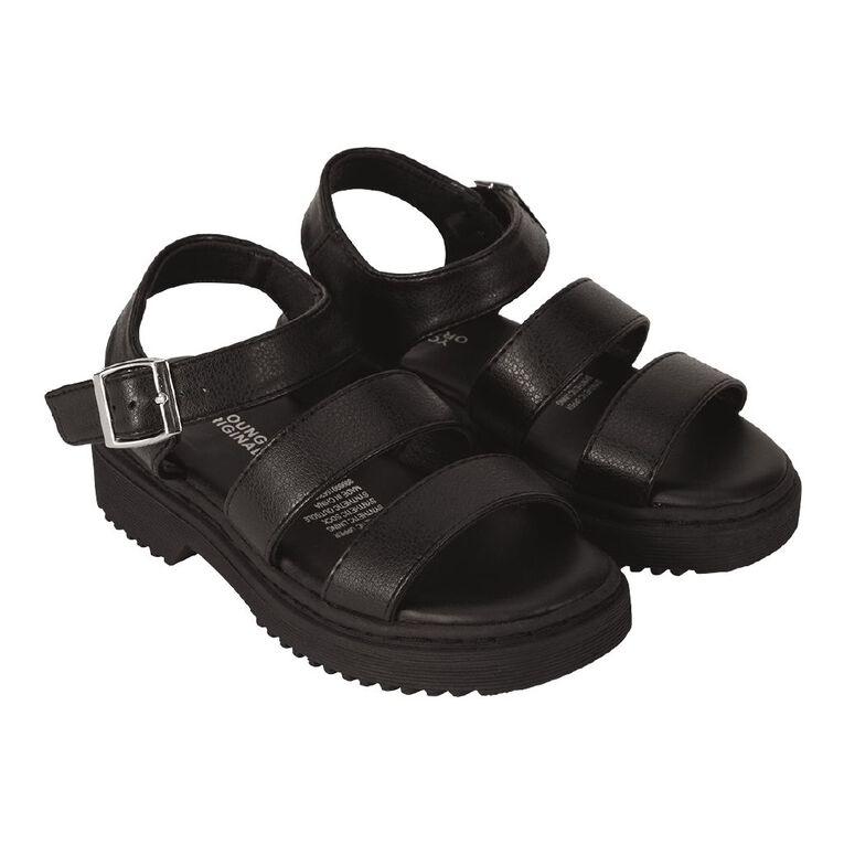 Young Original Subtract Junior Sandals, Black, hi-res
