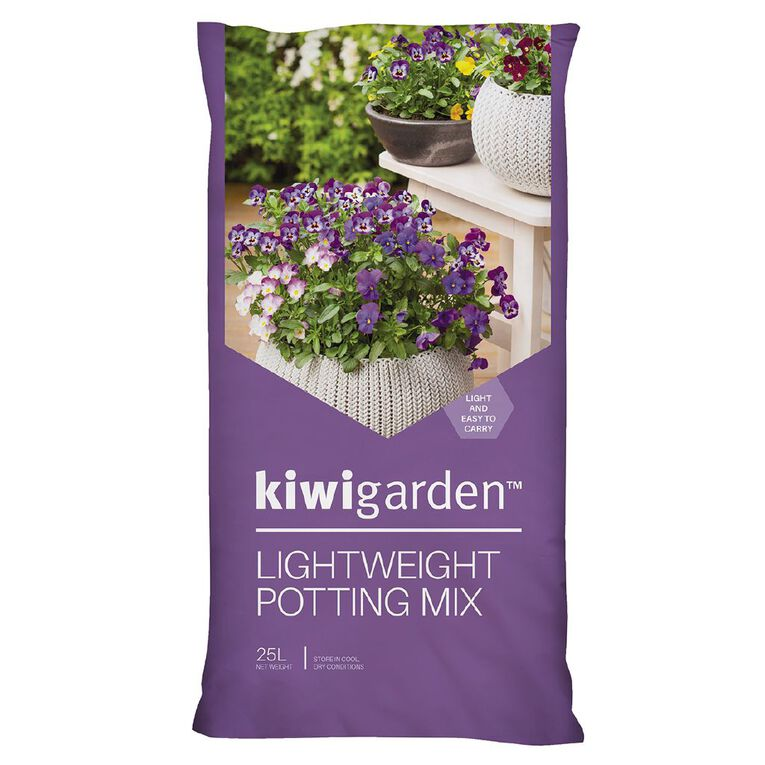 Kiwi Garden Lightweight Potting Mix 25L, , hi-res