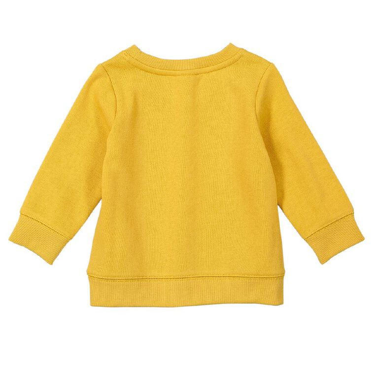 Young Original Baby Printed Sweatshirt, Yellow Dark, hi-res