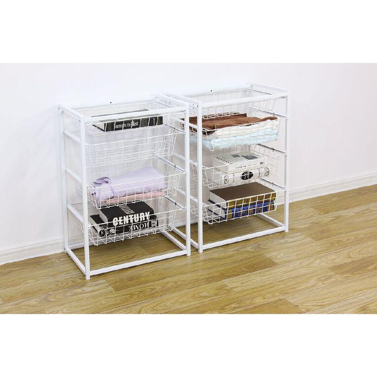 Living & Co 4 Drawer Stackable Wire Basket, , hi-res