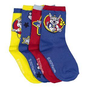 Paw Patrol Boys' Crew Socks 4 Pack