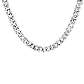 Stainless Steel Men's Curb Necklace 60cm