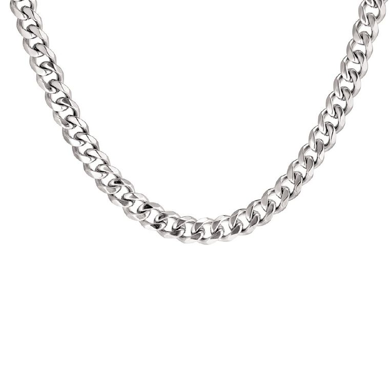 Stainless Steel Men's Curb Necklace 60cm, , hi-res