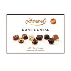 Thorntons Continental Box Milk Dark and White Chocolates 142g
