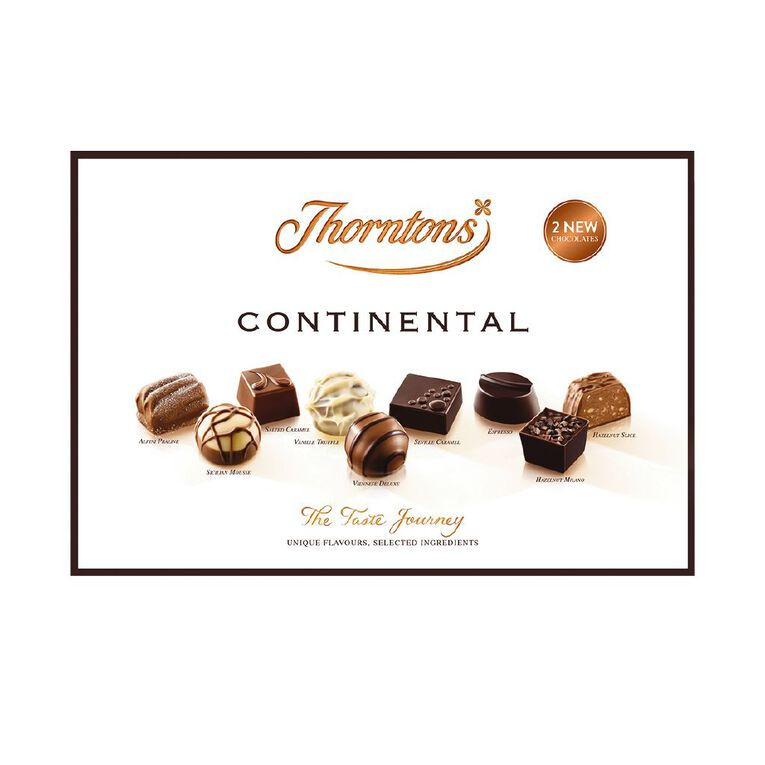 Thorntons Continental Box Milk Dark and White Chocolates 142g, , hi-res