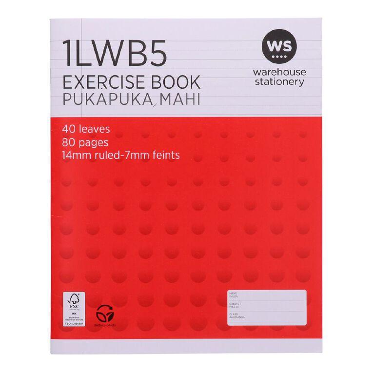 WS Exercise Book 1LWB5 7mm/14mm Ruled 40 Leaf, , hi-res
