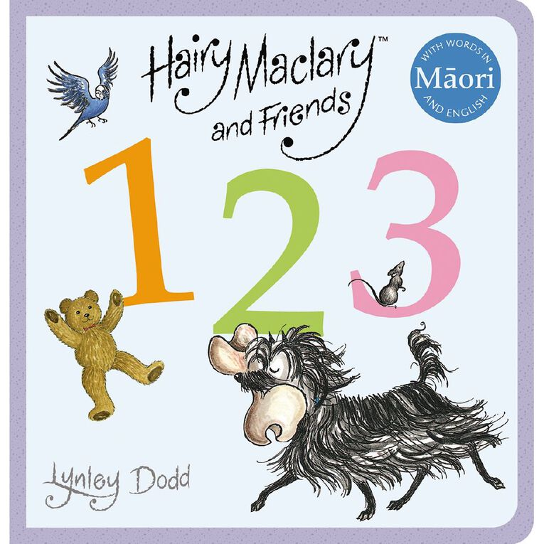 Hairy Maclary & Friends: 123 in Maori and English by Lynley Dodd, , hi-res