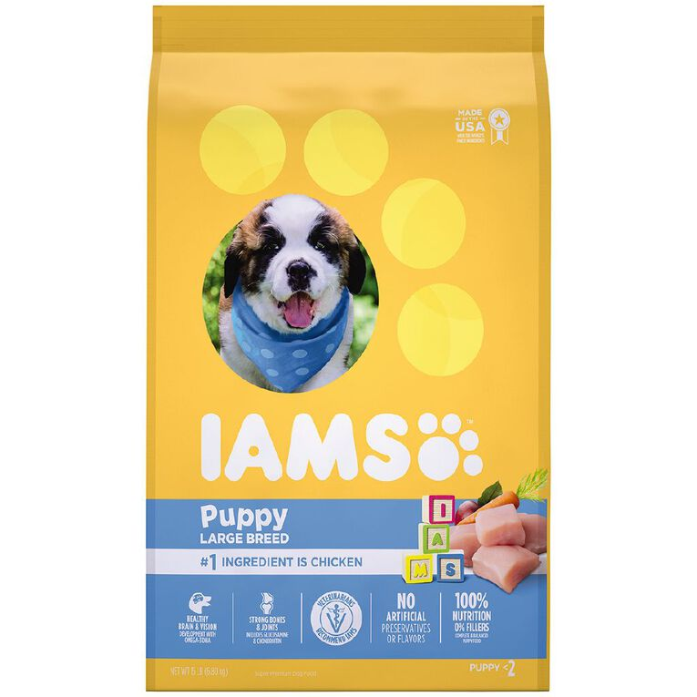 Iams Proactive Health Large Breed Puppy Chicken 6.8kg, , hi-res