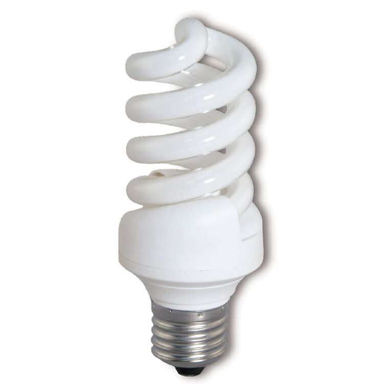 Edapt CFL Mini Spiral E27 Light Bulb 23W Warm White, , hi-res