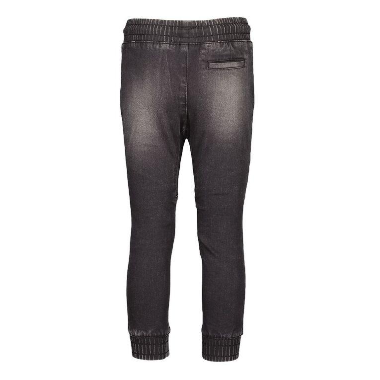 Young Original Boys' Pintuck Cuff Jeans, Black, hi-res