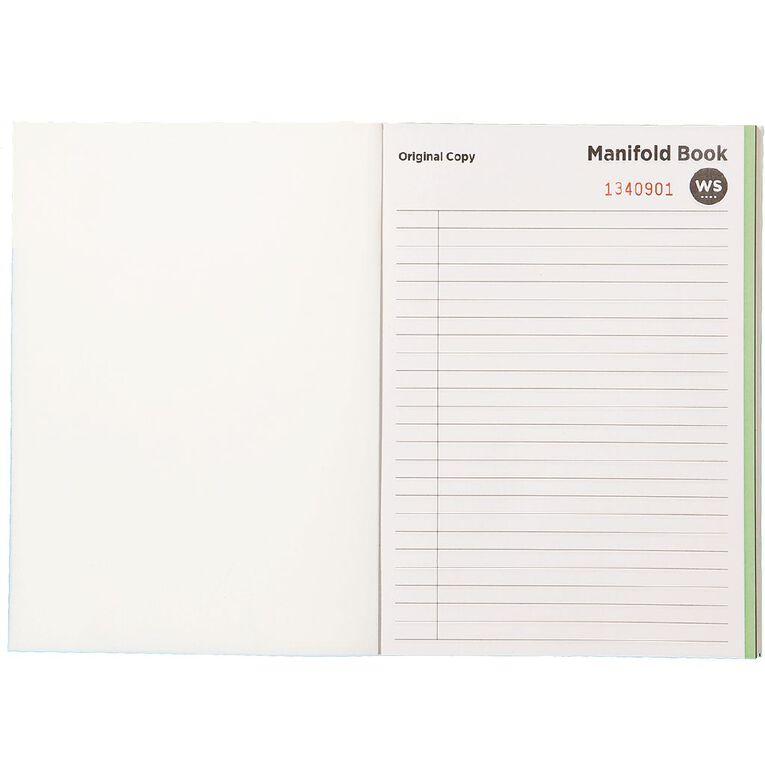 WS Manifold Book Feint Ruled Duplicate Green A5, , hi-res