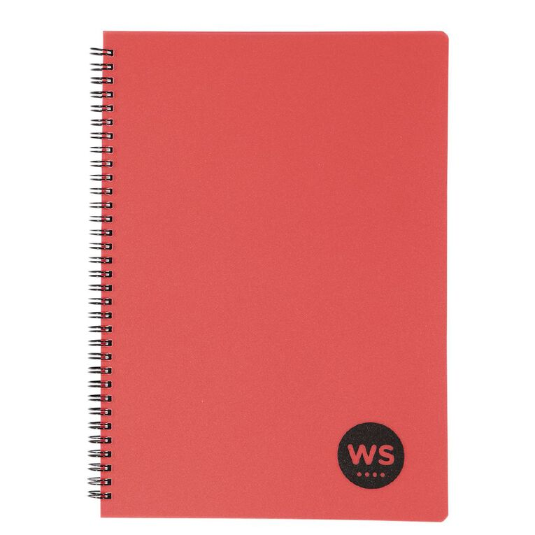 WS Notebook PP Wiro 200 Pages Soft Cover Red A4, , hi-res