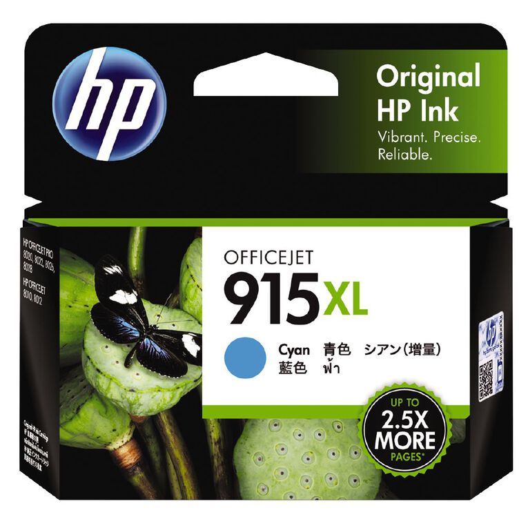 HP Ink 915XL Cyan (825 Pages), , hi-res