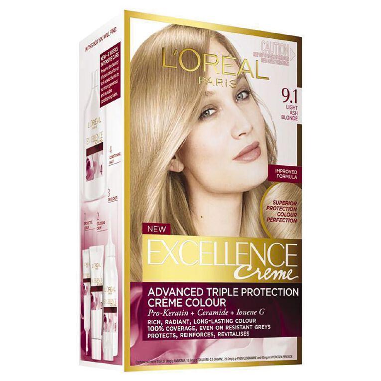 L'Oreal Paris Excellence Light Blonde 9.1, , hi-res
