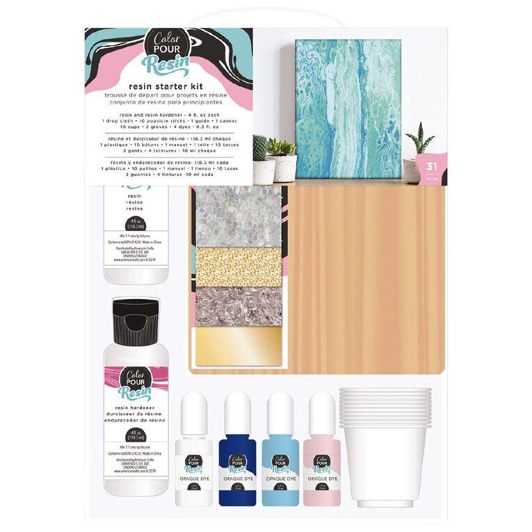 American Crafts Color Pour Resin Starter Kit 31 Piece, , hi-res