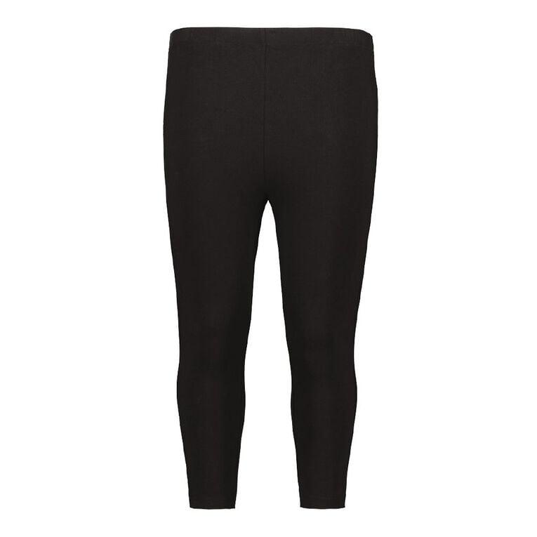 H&H Plus Women's 3/4  Leggings, Black, hi-res