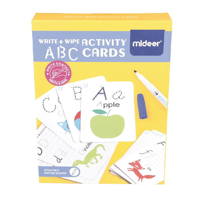 Wipe And Write Activity ABC Cards, , hi-res