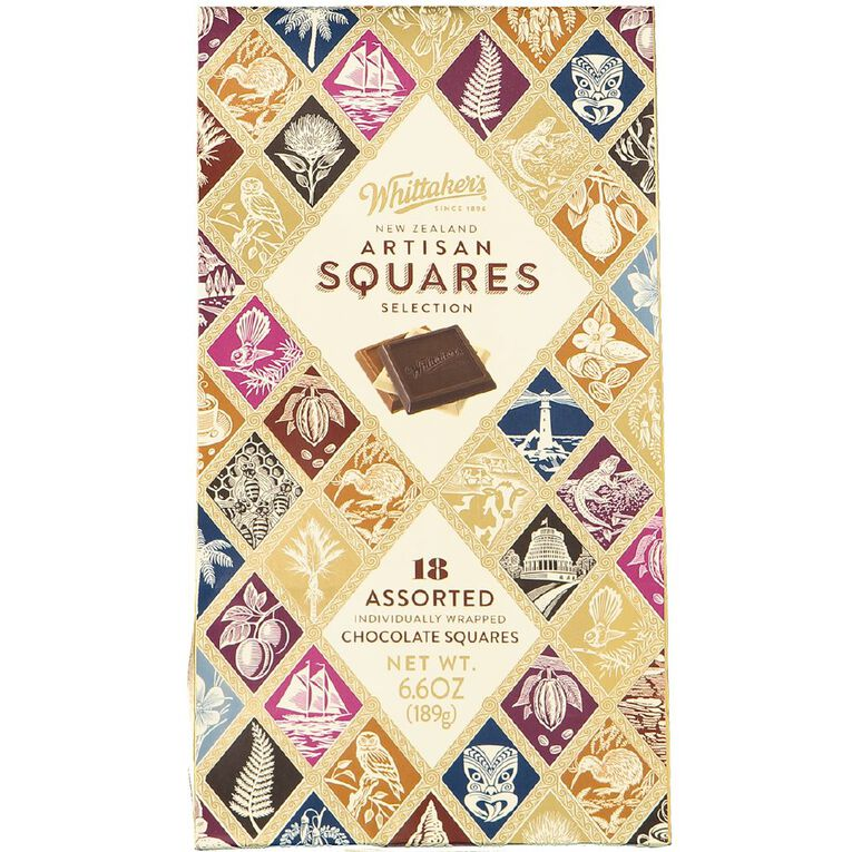 Whittaker's Boxed Assorted NZ Artisan Squares 18 Piece 189g, , hi-res