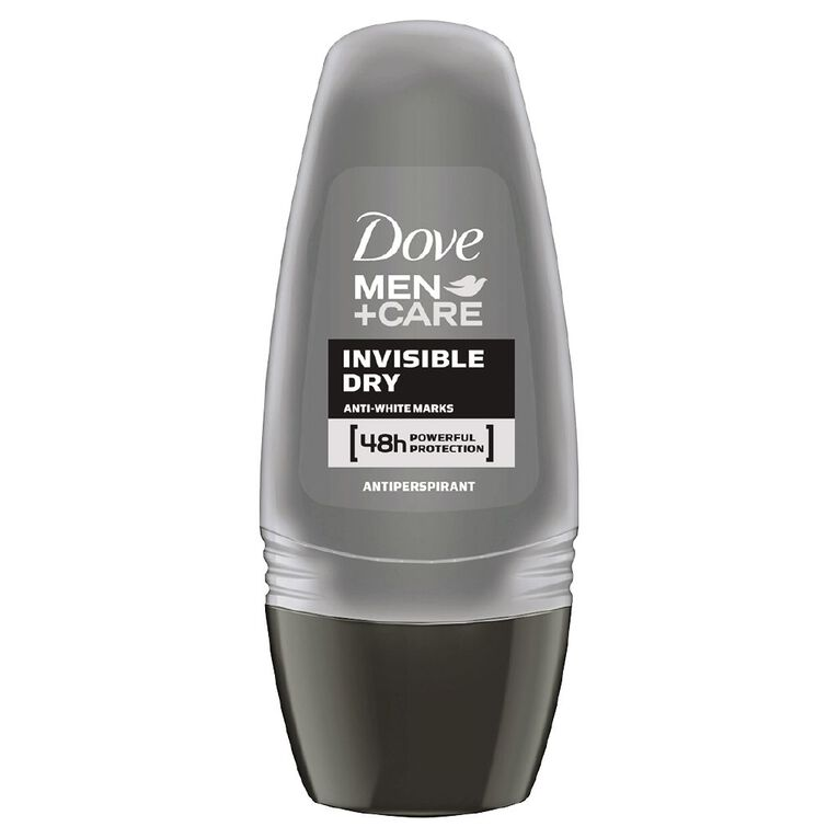 Dove For Men Roll On Deodorant Invisible Dry 50ml, , hi-res