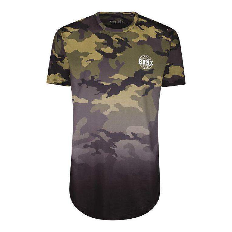 Garage Men's Short Sleeve All Over Print Tee, Khaki, hi-res image number null