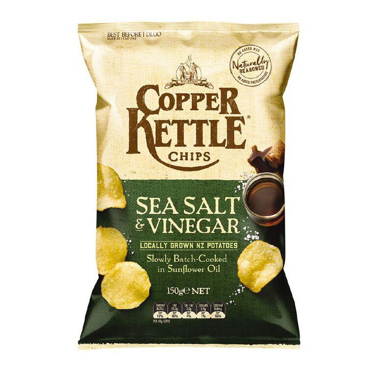 Copper Kettle Chips Salt and Vinegar 150g, , hi-res