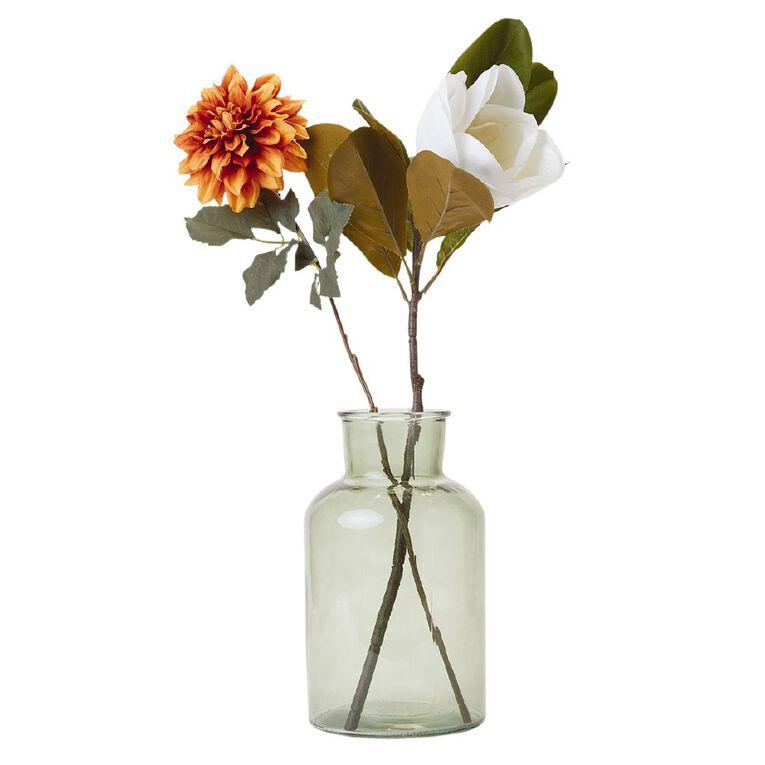 Living & Co Bottle Glass Vase Green 17cm x 30cm, , hi-res