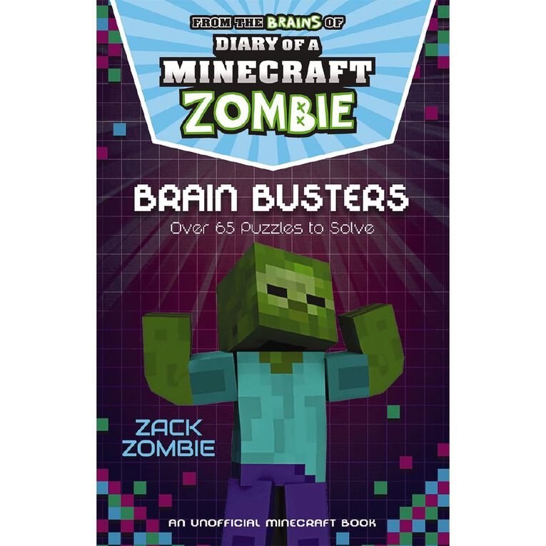 Minecraft Zombie Puzzle Book: Brain Busters by Zack Zombie, , hi-res