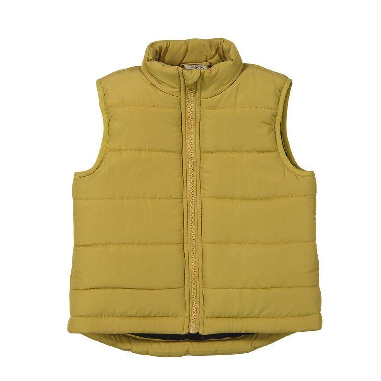 Young Original Toddler Puffer Vest, Yellow Dark, hi-res